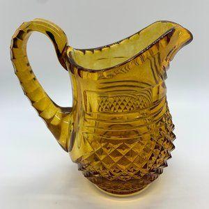 Vintage Dining - Vintage Amber Cut Glass Creamer-MCM